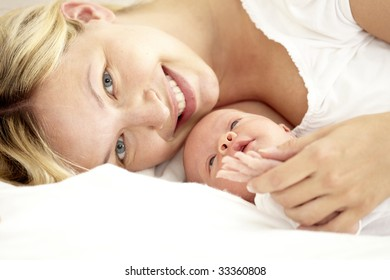 baby with mother