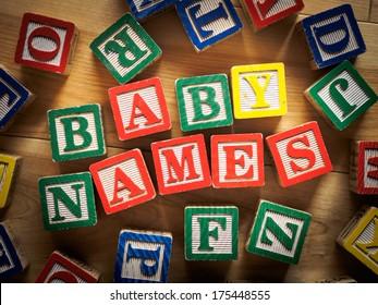 Baby names concept