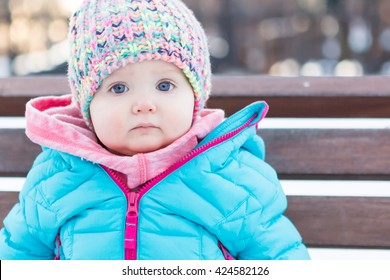Baby on Park Bench