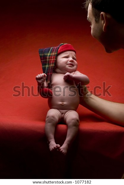 Baby on red