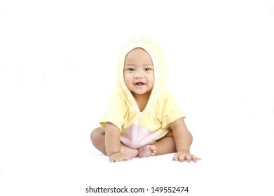 Baby on white Background