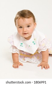 Baby on white background