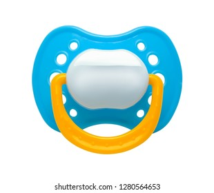 Baby Pacifier Binky Front Isolated on a White Background.