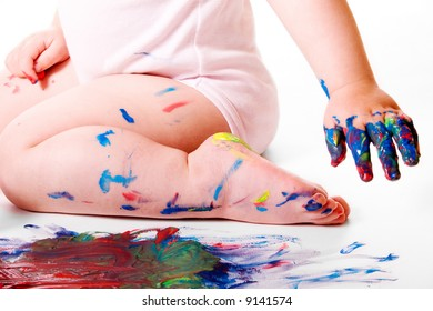 Baby Painting Session