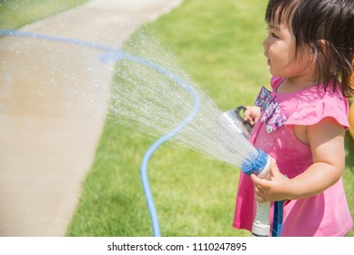Baby playing water