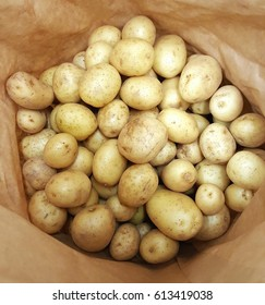 Baby potatoes in a bag
