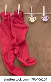 baby romper with copy space