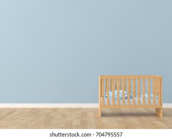 Baby room bed room 3d rendering image