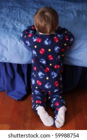 Baby saying his bedtime prayer