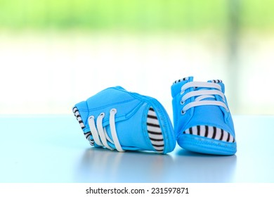 Baby shoes, baby concept