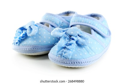 Baby shoes isolated on white