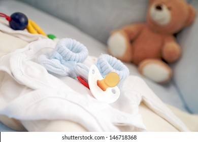 Baby Shoes and Pacifier with Teddy / baby stuff