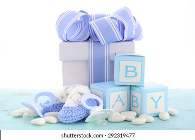 Baby Shower For A Boy Pictures ~ Boy blue theme baby shower nursery stock photo royalty free
