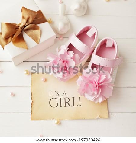 Baby Shower Decoration Girl Stockfoto Jetzt Bearbeiten 197930426