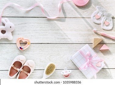 Baby Shower flat lay