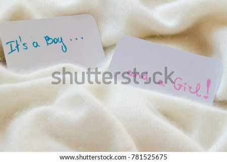 baby shower its boy girl announcement stock photo edit now