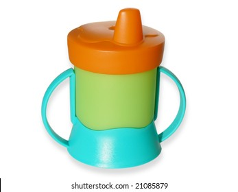 Baby sippy isolated on white background