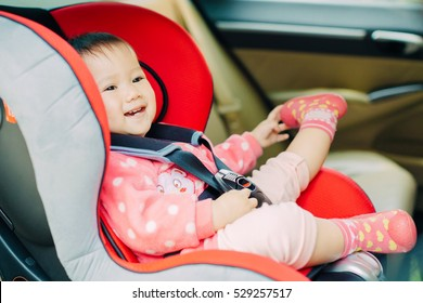 Baby sit in the car seat for safety.It is safer for your children to travel in the rear seats than the front. Babies, toddlers and children must use until they are either twelve years.