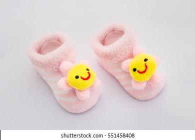 Baby socks on white background,baby