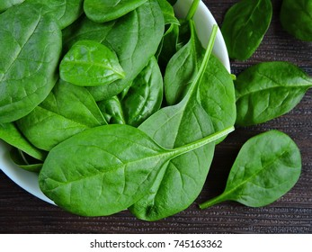 Baby spinach bright green. Baby spinach juicy.