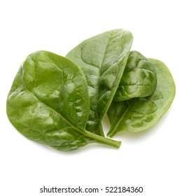Baby spinach leaves isolated on white background cutout