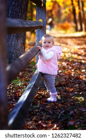Baby stroll in the fall