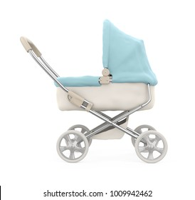 Baby Stroller Isolated. 3D rendering