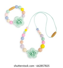 Baby teething Necklace, beads nursing mother necklace and kids toy.