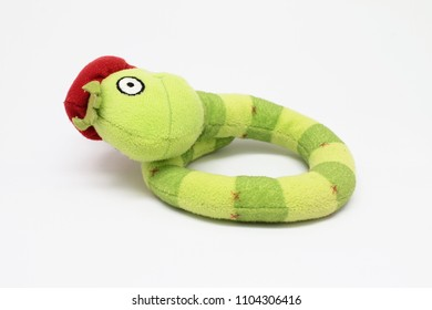 baby toy snake isolated