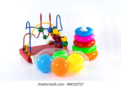baby toys collection isolated