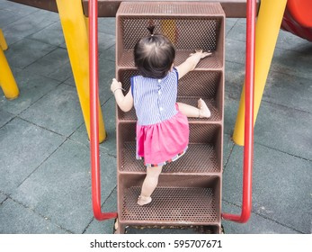 Baby try to go to the top by herself
