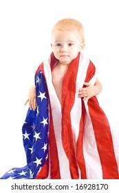Baby and USA Flag