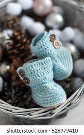 baby winter knitted booties