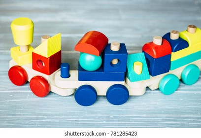 Baby wooden toy train