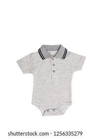 Baby-boy bodysuit isolated on white background for spring/autumn and summer wardrobe/ Baby clothes/ Top view/ Flat lay