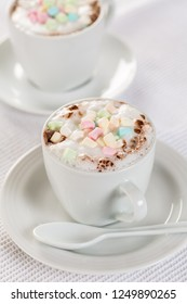 Babyccino - sugar free warm milk with milk foam decorated with marshmallows
