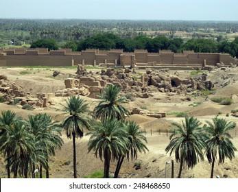 BABYLON, IRAQ - AUGUST 22: Historic city of Babylon on August 22, 2011 in Babylon, Iraq.