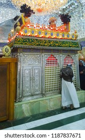 Babylon, Iraq – September 22, 2018: photo for Shrine of Imam al-Qasim son of al-Imam al-Kadhim in hila city in Babylon province south of Iraq .