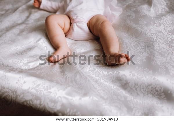 baby's feet. concept photo