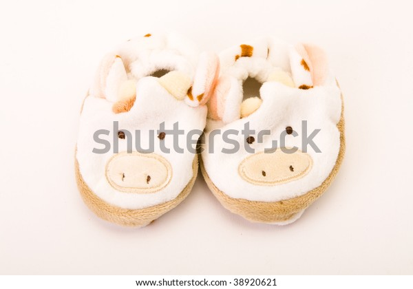 Babys First Booties Against White