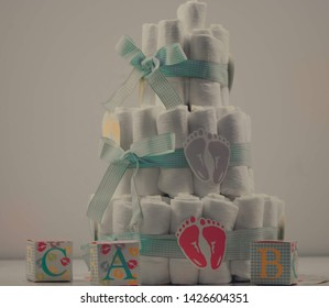 Babyshower baby shower diapers cake cute