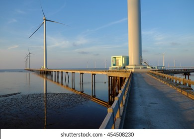 Bac Lieu wind power plant at Mekong Delta, clean energy for Viet nam industry