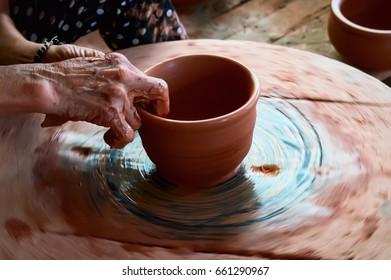 BAC NINH, VIET NAM, July 17, 2017 ceramic craftsmen, Phu Lang traditional pottery village, Bac Ninh province, Vietnam