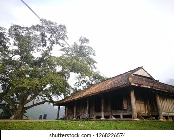 Bac Son, Lang Son - Nov 20, 2018: Overview of Nong Luc temple, a Vietnamese national heritage. This was the place where leaders of Bac Son revolution organizing strategy meetings.