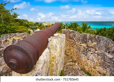 Bacalar San Felipe fort in Quintana Roo of Mexico