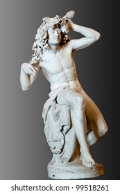 Bacchus (Dionysus) marble statue at Hermitage, st. Petersburg in Russia