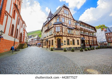 BACHARACH, GERMANY - APRIL 14: Vintage building in Bacharach on April 14, 2016.