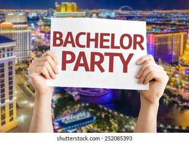 Bachelor Party card with city background