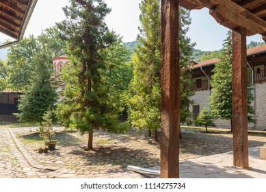 BACHKOVO MONASTERY, BULGARIA - JUNE 7, 2018: The Bachkovo Monastery is an important monument of Christian architecture and one of the largest and oldest Eastern Orthodox monasteries in Europe.