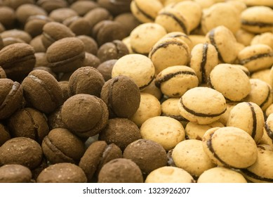 baci di dama, italian bisquit with chocolate cream